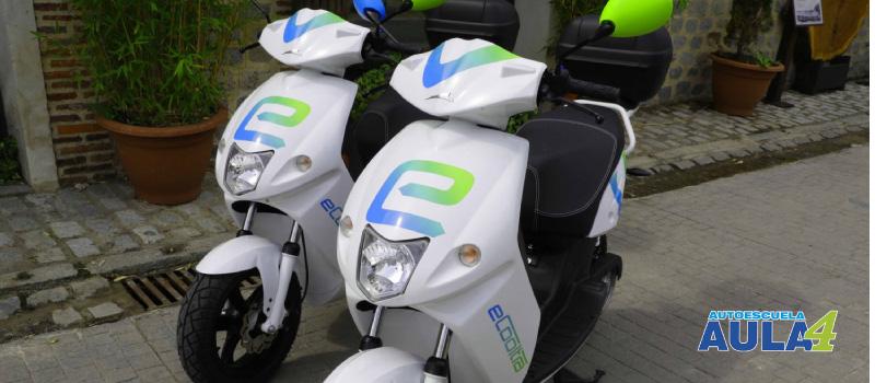 Motocilcetas compartidas, en Madrid.